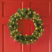 """24"""" Pre-Lit Balsam Fir Wreath"""