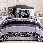 Seventeen® Zebra Darling Comforter Set
