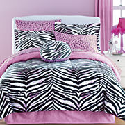 jcp home™ Zebra 6-pc. Twin Complete Bedding Set with Sheets Collection