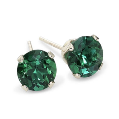 jcpenney.com | Lab Created Emerald 6mm 10K Gold Stud Earrings