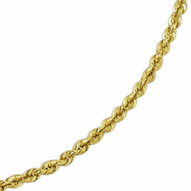"jcpenney.com | 14K Gold Glitter Rope 20-24"" 3mm Chain"