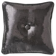 Seventeen® Black Sequin Decorative Pillow