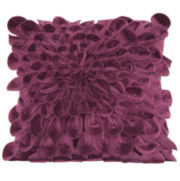 Rosette Petal Decorative Pillow