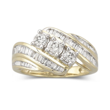 jcpenney.com | Love Lives Forever™ 1 CT. T.W. Diamond 10K Yellow Gold 3-Stone Ring