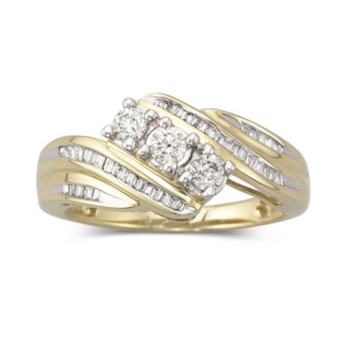 jcpenney.com | Love Lives Forever™ 1/2 CT. T.W. Diamond 10K Gold 3-Stone Ring