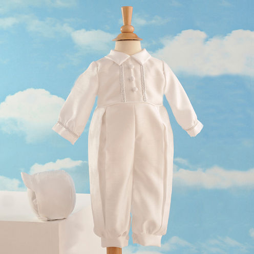 Keepsake® Christening Romper Set - Boys newborn-12m