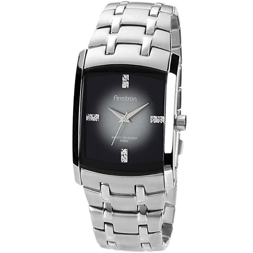 Armitron® Mens Degrade Gray Rectangular Watch