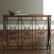 Iron Frame Console Table
