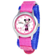 Disney Time Teacher Minnie Mouse Kids Pink Watch