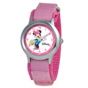 Disney Time Teacher Minnie Mouse Kids Pink Swirl Watch