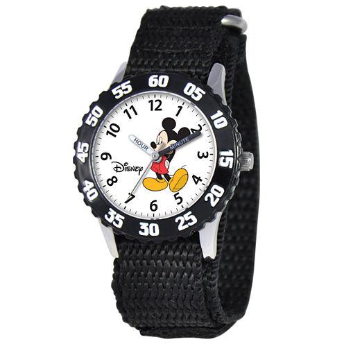 Disney Time Teacher Mickey Mouse Kids Black Watch