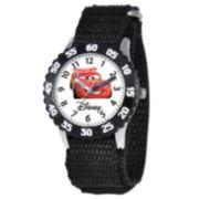 Disney Time Teacher Black Cars Watch