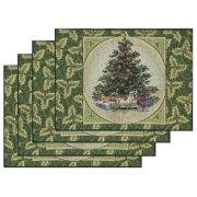 Table Linens, Holly Tree Holiday