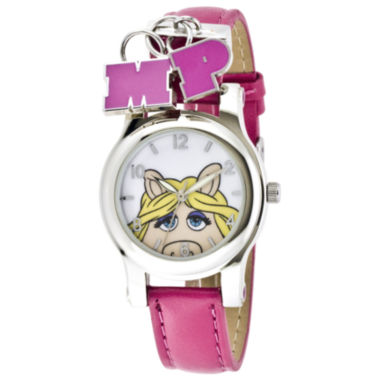 jcpenney.com | Muppets Miss Piggy Pink Strap Charm Watch