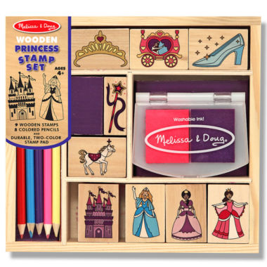 jcpenney.com | Melissa & Doug® Princess Wood Ink Stamp Set