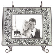 Pewter Heart Vine Flip Photo Album