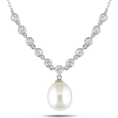 jcpenney.com | CZ Cultured Freshwater Pearl Pendant Necklace