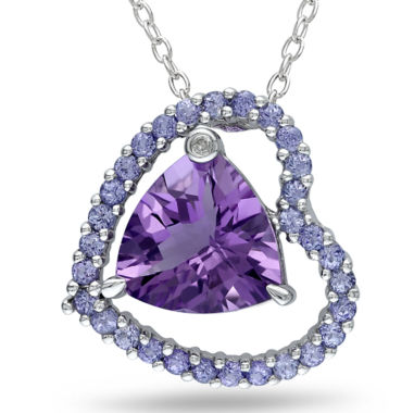jcpenney.com | Amethyst, Tanzanite & Diamond Accent Heart Pendant Necklace