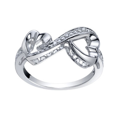 jcpenney.com | Love Grows™ 1/10 CT. T.W. Double Diamond Heart Ring