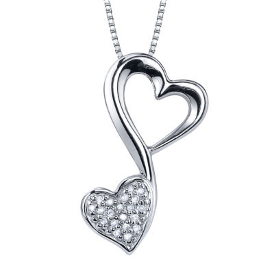 jcpenney.com | Love Grows™ 1/10 CT. T.W. Diamond Pendant Heart Necklace