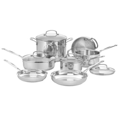 jcpenney.com | Cuisinart® 11-pc. Stainless Steel Cookware Set