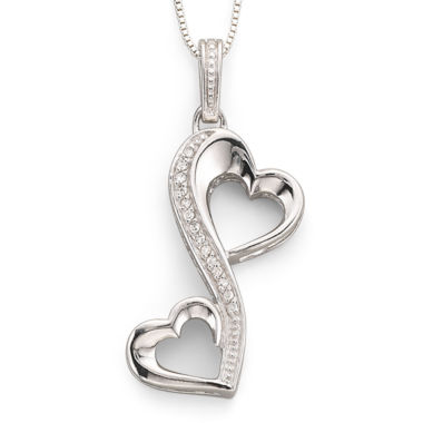 jcpenney.com | Love Grows™ 1/10 CT. T.W. Diamond Hearts Pendant