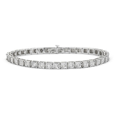 1 2 Ct T W Diamond Sterling Silver Tennis Bracelet