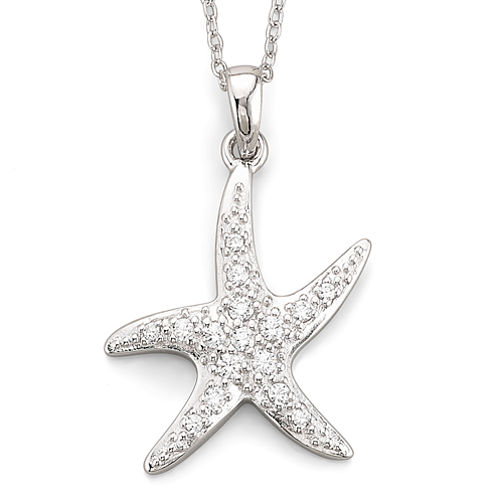 DiamonArt® Cubic Zirconia Pendant Starfish Necklace