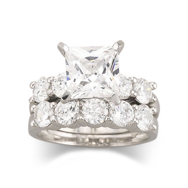 jcpenney.com | DiamonArt® Cubic Zirconia Engagement Ring Set