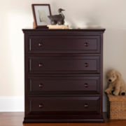 Rockland Austin 4-Drawer Chest - Merlot