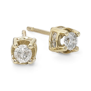jcpenney.com | 1/2 CT. T.W. Diamond Stud Earrings 10K Yellow Gold
