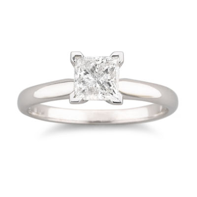 1 CT Certified Diamond Solitaire Ring JCPenney