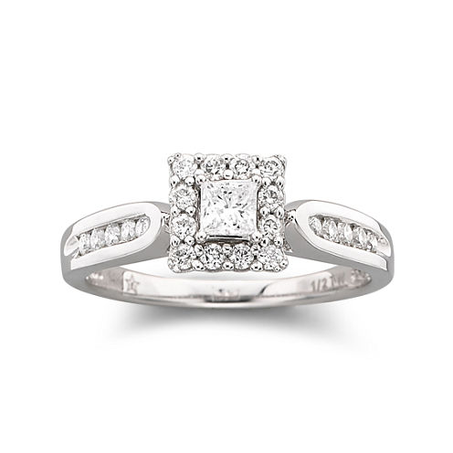 ½ CT. T.W. Diamond Engagement Ring