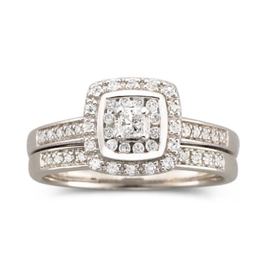 jcpenney.com | I Said Yes™ 3/8 CT. T.W. Certified Diamond Bridal Set