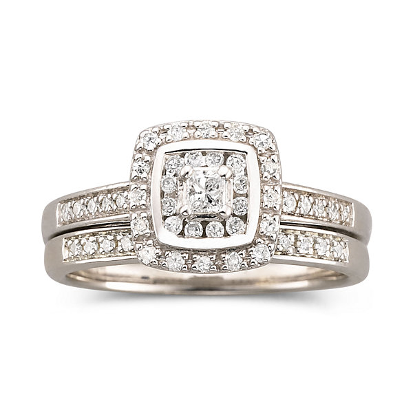 Jcpenney Gift Registry Wedding: I Said Yes 3/8 CT TW Certified Diamond Bridal Set