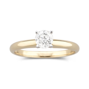 jcpenney.com | 1/2 CT. Certified Diamond Solitaire 14K Yellow Gold Ring
