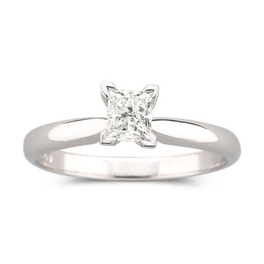 jcpenney.com | ½ CT. Princess Certified Diamond Solitaire Ring