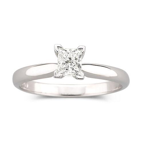 ½ CT. Princess Certified Diamond Solitaire Ring