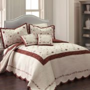 Silk Road Floral Embroidered Bedspread