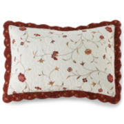 Silk Road Floral Embroidered Pillow Sham