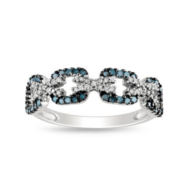 jcpenney.com | 3/8 CT. T.W. Color-Enhanced Blue Diamond Ring Sterling Silver