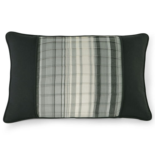 "Black and White Retro Chic 18"" Oblong Accent Pillow"