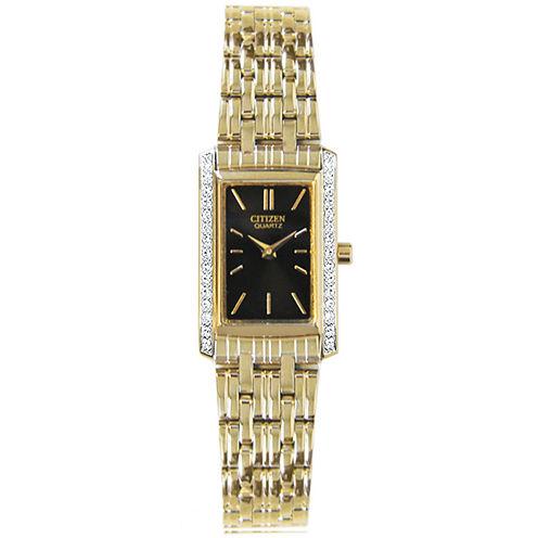 Citizen® Womens Gold-Tone Watch EK1122-50E