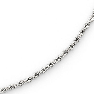 "jcpenney.com | 24"" Rope Chain Stainless Steel"