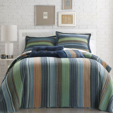 jcpenney.com | Blue Retro Chic Striped Bedspread & Accessories