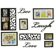 Oxford 10-Piece Word & Picture Frame Set