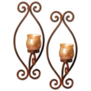 Rustica Set of 2 Candle Wall Sconces