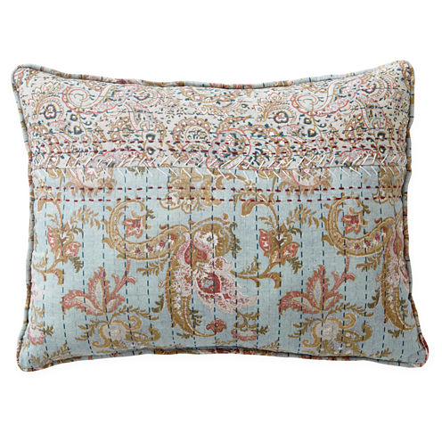 Home Expressions Fairview Blue Floral Oblong Decorative Pillow - JCPenney