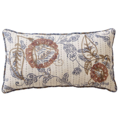 jcpenney.com | Linden Street™ Fairview White Floral Bolster Decorative Pillow