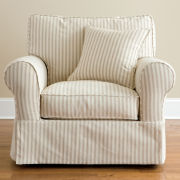 Friday Stripe Slipcovered Chair